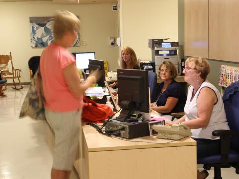 Registration desk is an important first step for any of your cancer journey