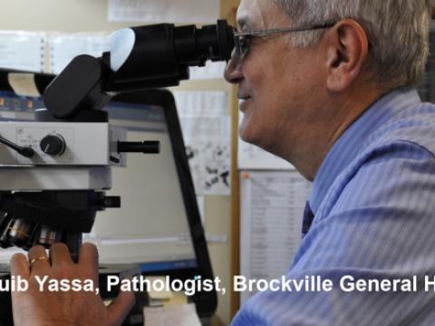 Dr. Naguib Yassa, Pathologist at Brockville General Hospital